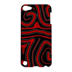 Red and black abstraction Apple iPod Touch 5 Hardshell Case