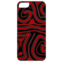 Red and black abstraction Apple iPhone 5 Classic Hardshell Case