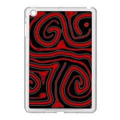 Red and black abstraction Apple iPad Mini Case (White)