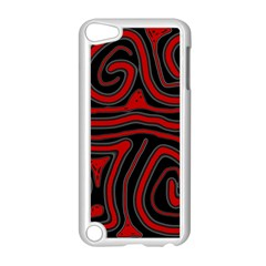 Red and black abstraction Apple iPod Touch 5 Case (White)