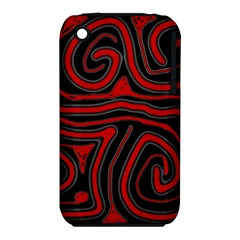 Red and black abstraction Apple iPhone 3G/3GS Hardshell Case (PC+Silicone)