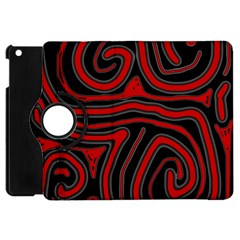 Red and black abstraction Apple iPad Mini Flip 360 Case