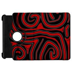 Red and black abstraction Kindle Fire HD Flip 360 Case