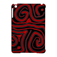 Red and black abstraction Apple iPad Mini Hardshell Case (Compatible with Smart Cover)