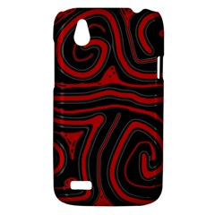 Red and black abstraction HTC Desire V (T328W) Hardshell Case