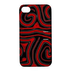 Red and black abstraction Apple iPhone 4/4S Hardshell Case with Stand