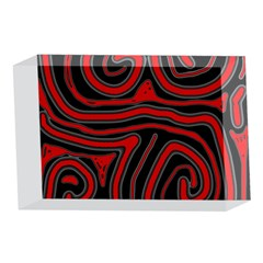 Red and black abstraction 4 x 6  Acrylic Photo Blocks