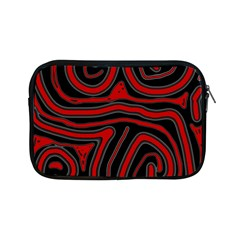 Red and black abstraction Apple iPad Mini Zipper Cases