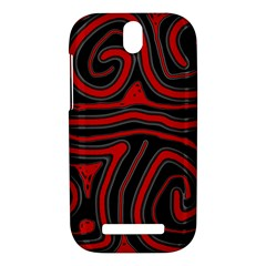 Red and black abstraction HTC One SV Hardshell Case