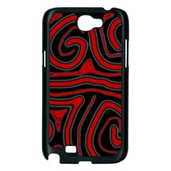 Red and black abstraction Samsung Galaxy Note 2 Case (Black)