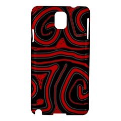 Red and black abstraction Samsung Galaxy Note 3 N9005 Hardshell Case