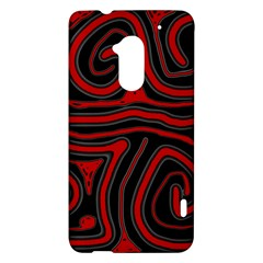 Red and black abstraction HTC One Max (T6) Hardshell Case