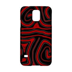 Red and black abstraction Samsung Galaxy S5 Hardshell Case