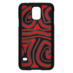 Red and black abstraction Samsung Galaxy S5 Case (Black)