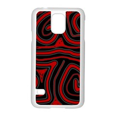 Red and black abstraction Samsung Galaxy S5 Case (White)