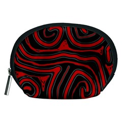 Red and black abstraction Accessory Pouches (Medium)
