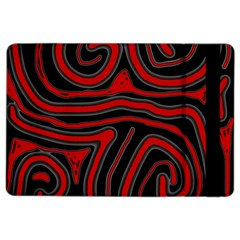 Red and black abstraction iPad Air 2 Flip