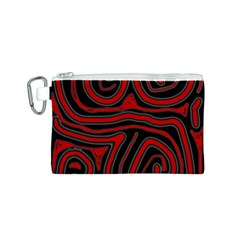 Red and black abstraction Canvas Cosmetic Bag (S)