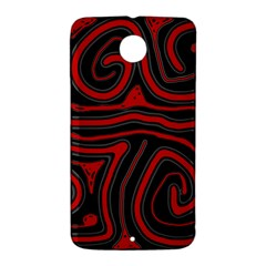 Red and black abstraction Nexus 6 Case (White)