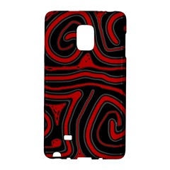 Red and black abstraction Galaxy Note Edge