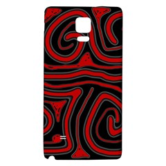Red and black abstraction Galaxy Note 4 Back Case