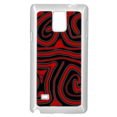 Red and black abstraction Samsung Galaxy Note 4 Case (White)