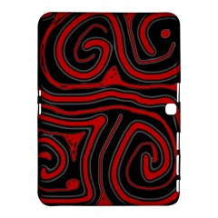 Red and black abstraction Samsung Galaxy Tab 4 (10.1 ) Hardshell Case