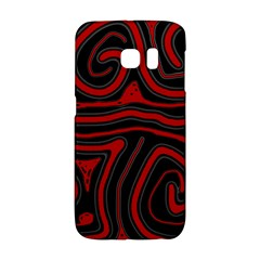 Red and black abstraction Galaxy S6 Edge