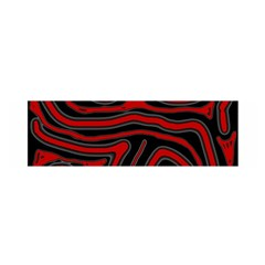 Red and black abstraction Satin Scarf (Oblong)