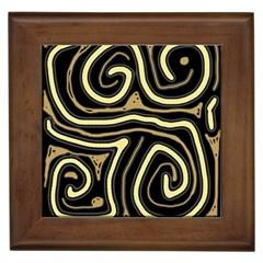 Brown elegant abstraction Framed Tiles