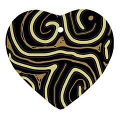Brown elegant abstraction Ornament (Heart)