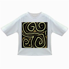 Brown elegant abstraction Infant/Toddler T-Shirts