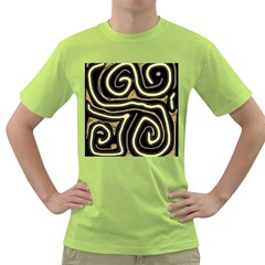 Brown elegant abstraction Green T-Shirt