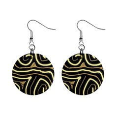Brown elegant abstraction Mini Button Earrings