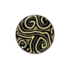 Brown elegant abstraction Hat Clip Ball Marker (10 pack)