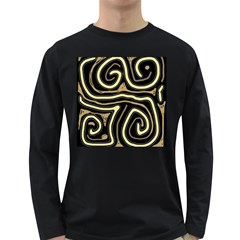 Brown elegant abstraction Long Sleeve Dark T-Shirts