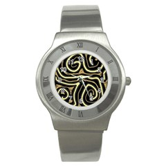 Brown elegant abstraction Stainless Steel Watch