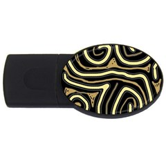 Brown elegant abstraction USB Flash Drive Oval (4 GB)