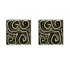 Brown elegant abstraction Cufflinks (Square)