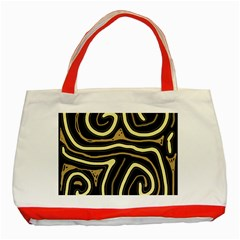 Brown elegant abstraction Classic Tote Bag (Red)