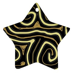 Brown elegant abstraction Star Ornament (Two Sides)