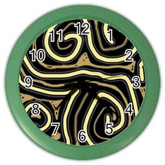 Brown elegant abstraction Color Wall Clocks