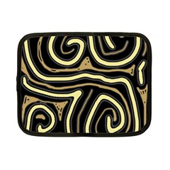 Brown elegant abstraction Netbook Case (Small)