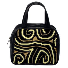 Brown elegant abstraction Classic Handbags (One Side)