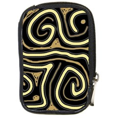 Brown elegant abstraction Compact Camera Cases