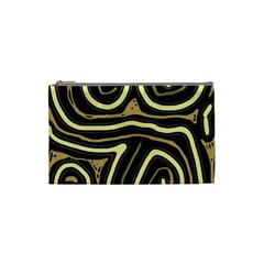 Brown elegant abstraction Cosmetic Bag (Small)