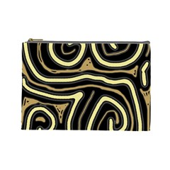 Brown elegant abstraction Cosmetic Bag (Large)