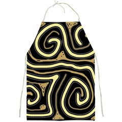 Brown elegant abstraction Full Print Aprons