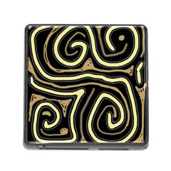 Brown elegant abstraction Memory Card Reader (Square)