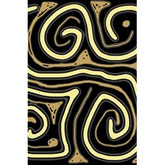 Brown elegant abstraction 5.5  x 8.5  Notebooks